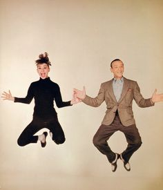 Audrey Hepburn and Fred Astaire funny in funny face @Fred Astaire Morristown