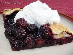 Blackberry Galette with Homemade Vanilla Whipped Cream (or better yet, homemade vanilla ice cream)