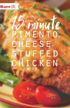 It's what's for dinner.. 15 Minute Pimento Cheese Stuffed Chicken