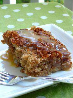 Honeybun Cake with Caramel Sauce - Willow Bird Baking
