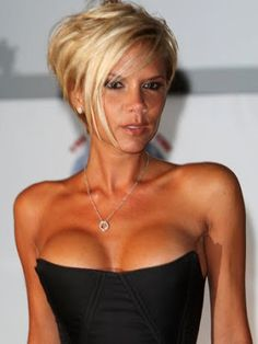 victoria beckham short hair. Wish I could have the boobs too.