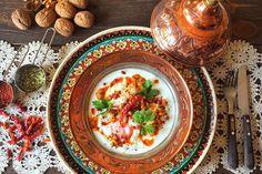 Turkish Style Poached Eggs With Garlic Yogurt & Chilli Flakes &Walnut Butter recipe on Food52