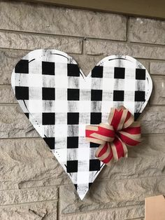 Excited to share this item from my shop: Valentine's Day door hanger, heart door hanger, buffalo plaid door hanger day decor cookies day decor diy day decor easy day decor farmhouse day decor house day decor ideas Valentine Day Wreaths, Valentines Day Decorations, Valentine Day Crafts, Holiday Crafts, Christmas Gifts, My Funny Valentine, Love Valentines, Heart Crafts, Dollar Tree Crafts