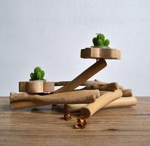 Smaak leven handgemaakte moderne ontwerp houten decoraties takjes kandelaars originele ecologie vintage rustieke stijl ambachten geschenken(China (Mainland))