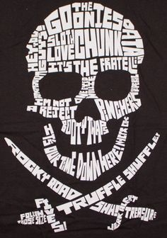 The Goonies Quote Skull Black Juniors Tee Shirt Goonies Party, Junior Shirts, Cricut Tutorials, Cricut Ideas, Silhouette Cameo Projects, Skull Design, Cricut Creations, Shirts With Sayings, Word Art