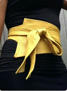 XXL Mosterd yellow asymetric genuine leather obi belt, corset belt, waist cincher, wrap on belt, high waisted belt XXL Mosterd yellow asymetric genuine leather obi belt by SmpliAnwi Fashion Belts, Look Fashion, Fashion Details, Diy Fashion, Ideias Fashion, Fashion Accessories, Fashion Outfits, Womens Fashion, Fashion Trends