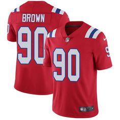 Nike Patriots #90 Malcom Brown Red Alternate Men's Stitched NFL Vapor Untouchable Limited Jersey