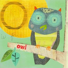 Owl Collage Print by redfishcircle, via Flickr