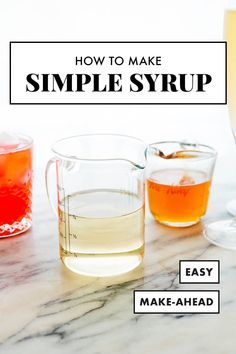 Make some simple syrup and enjoy cocktails at home! Simple syrup is so easy to make. You'll find the recipe and fun flavor variations at Cookie and Kate. #simplesyrup #cocktails #cookieandkate Cookie Kate, Mint Simple Syrup, Coconut Cupcakes, Whiskey Drinks, Recipe Please, Fresh Ginger, Cocktails, Martinis, Cocktail Recipes