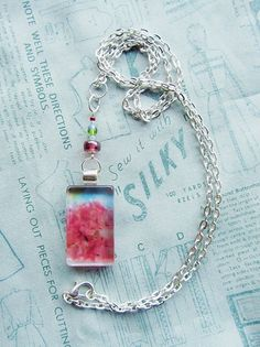 """Abundance"" (version 1) Handmade Glass Pendant Necklace by turquoiseeye, £12.20"
