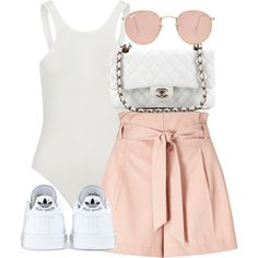 A fashion look from August 2016 featuring Miss Selfridge, adidas sneakers and leather hand bags. Browse and shop related looks. Cute Edgy Outfits, Classy Outfits, Pretty Outfits, Stylish Outfits, Kpop Fashion Outfits, Girls Fashion Clothes, Cute Fashion, Polyvore Outfits Casual, Ideias Fashion