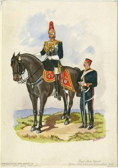 British; Royal Horse Guards, State dress and undress (stable jacket), c.1875 by R.Simkin
