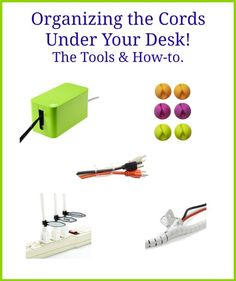 Organizing the Cords Under Your Desk! The Tools & How-to. Cord Organization, Home Office Organization, Organizing Your Home, Organized Office, Cozy Living Spaces, Cord Management, Personal Organizer, Getting Organized, Declutter