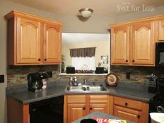 Add crown molding to the top of standard grade cabinets for a more finished look