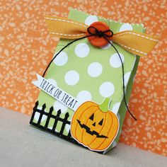 Trick Or Treat Bag by Lizzie Jones for Papertrey Ink (August 2016)