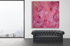 Original abstract painting created in my studio, Calgary, Canada. ~ COMPOSITION: Pinks and white on a textured background ~ MEDIUM: Professional grade acrylic paints and mediums. This piece is finished with a clear varnish in order to protect it from UV light, moisture and dust.