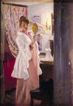 P S Krøyer 1889 - Interiør med Marie Krøyer - Кройер, Педер Северин — Википедия