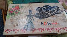 Caja de madera vintage.