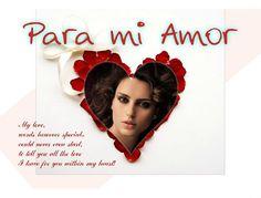 Fotoefectos con Corazones para Enamorados con Mensaje gratis.
