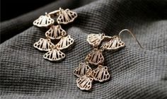Cute Hollow Out Alloy Dangle Earrings In Rose Gold Color