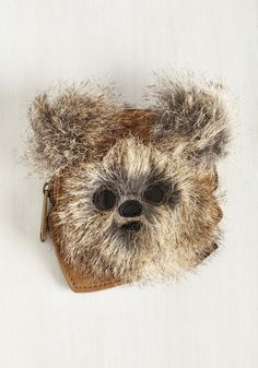 Ewok the Walk Coin Purse. You put the star in Star Wars when youre toting this quirky, cute coin purse! #brown #modcloth