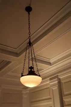 ceiling and light......Original 1920's light fixtures. Centralia Square Grand Ballroom