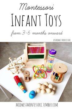 Midwest Montessori — Montessori infant toys: 3-6 months onward