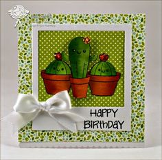 Your Next Stamp July New Release - Cactus and Flower Fun, Fun Faces, Insta Love Polaroid Die - card by Jen Roach