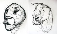 Portuguese artist makes wire animal sculptures that look just like sketches ♥ | © David Oliveira