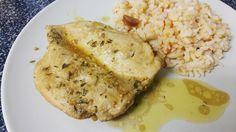 Ingredientes:    Peito de Frango  1 colher de sopa de manteiga  Sumo de meio limão  2 colheres de ...
