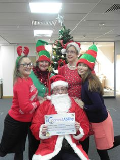 Santa and his Elves supporting ConnectAbility. Please support our #ConnectAbility appeal! www.thedtgroup.org/ConnectAbility