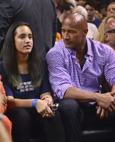 Dwayne Johnson &; Daughter: Basketball Buddies