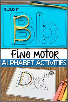 Fine motor alphabet activities are a fun learning center for preschool and kindergarten kids. These no prep alphabet printables are ready to use with your children today! Tracing Practice Preschool, Preschool Phonics, Teaching Kindergarten, Preschool Activities, Teaching Ideas, First Grade Activities, Alphabet Activities, School Worksheets, Kindergarten Worksheets
