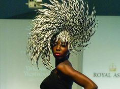 AWESOME HAT AT ASCOT FASHION SHOW