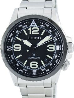 Seiko Prospex Men's Automatic Watch - In Stock, Free Next Day Delivery, Our Price: Buy Online Now Stainless Steel Bracelet, Stainless Steel Case, Seiko Watches, Nixon Watches, Seiko 5 Sports, Seiko Men, Automatic Watches For Men, Kate Spade, Michael Kors