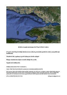 Gemlik 20 575m2 liman arsa 15 000 000tl atillagencten 05326707282