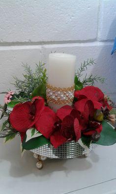 Artes em velas e flores