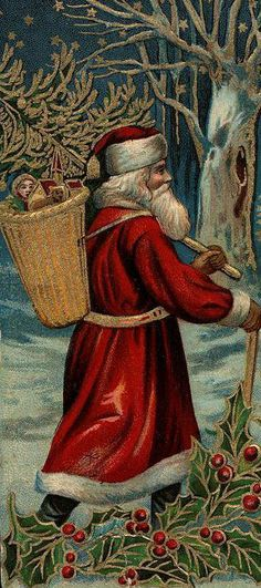 Antique Christmas Santa Postcards  and Vintage Illustrations (18)