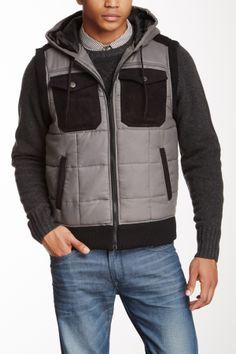 Repair Hooded Contrast Vest on HauteLook