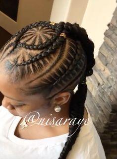 Beautiful braid work by @nisaraye - https://blackhairinformation.com/hairstyle-gallery/beautiful-braid-work-nisaraye/