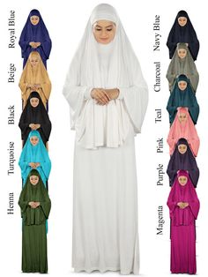 Set Black Prayer Outfit Islmaic Womens Ihram Ladies Modest Clothes Ahram One