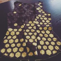 Hexagon Corset back. Alabama Chanin