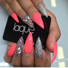 Nails, stiletto nails и laque nail bar. Sexy Nails, Glam Nails, Hot Nails, Bling Nails, Glitter Nails, Beauty Nails, Hair And Nails, Stiletto Nails, Beauty Makeup