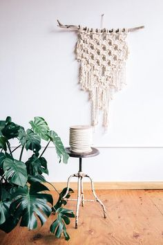 "Modern Macrame Rope 100 Feet Half Inch 1/2"" Cotton Cord Spool Wall Hanging DIY"