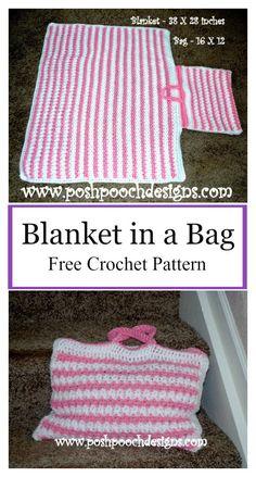 Blanket in a Bag Free Crochet Pattern #freecrochetpatterns #blanket