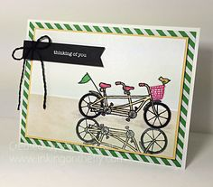 Pedal Pusher Reflection card by Amy Jasper www.inkingonthefly.com All supplies from Stampin' Up!