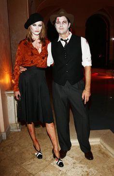 Karmen Pedaru and Riccardo Ruini as Bonnie and Clyde