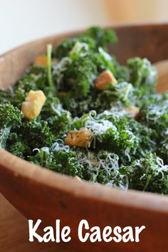 raw kale caesar salad this lighter kale caesar will become a staple in ...