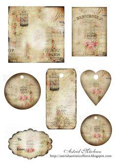 Free Pretty Printables, Shabby Chic Crafts