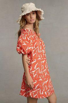 Gal Meets Glam Shiloh Off-The-Shoulder Mini Dress | Anthropologie Off The Shoulder Tunic, 50 Fashion, Unique Dresses, Swing Dress, Dresses Online, Cool Outfits, Summer Dresses, Clothes, Anthropologie